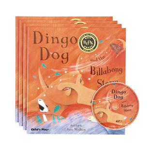 Dingo Dog and the Billabong Storm  4 Paperback Books and 1 CD - 4 books, 1 cd