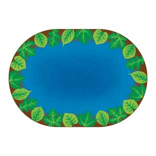 """Environments Harmony Leaf Places Carpet - 8' 3"""" x 11' 8"""" Oval"""