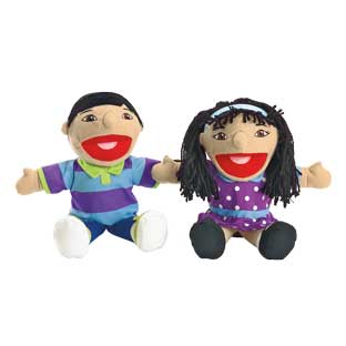 Excellerations Asian Girl and Boy Puppet Pair - 1 pair