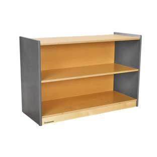 "Environments 24"" High, 2 Shelf Storage with Green Tea Sides"