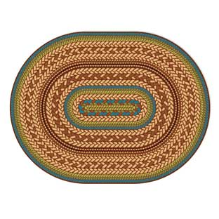 "Environments Small EarthTextures Braid Carpet - 4' 5"" x 5' 10""  Oval"