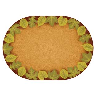 "Environments Earthtones Leaf Places Carpet - 8'3"" x 11'8"" Oval"
