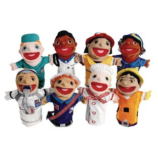Excellerations Big-Mouth Career Puppets Set of 8
