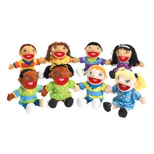 Excellerations Girl and Boy Puppet Pairs - Set of All 8