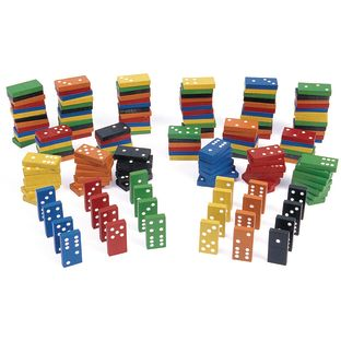 Excellerations Colorful Wooden Dominoes - 168 Pieces