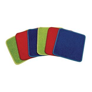 Extra Plush Solid Color Carpet Squares - Set of 6