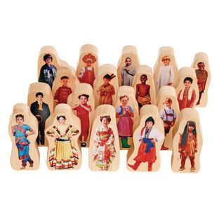 Excellerations Photo Block Multicultural Play People Set of 18
