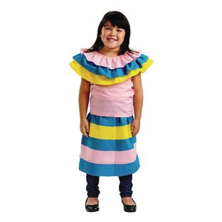 Excellerations Mexican Girl Costume - 1 costume