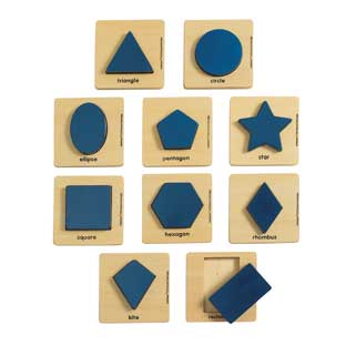 Excellerations Wooden Shape Puzzles  Set of 10