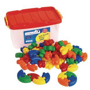 Excellerations Soft Puzzle Pieces - 62 Pieces
