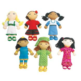 Excellerations World Friends Dolls - Set of 6 Girls