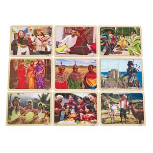 Excellerations Photographic Multi-Cultural World Puzzles - Set of 9