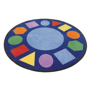 "Geometric Shapes Carpet - 6'6"" Round"