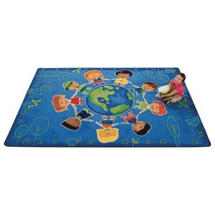 Give the Planet a Hug 6' x 9' Rectangle Premium Carpet - 1 carpet
