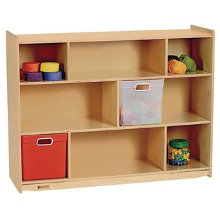 "MyPerfectClassroom 36""H Divided Shelf Mobile Storage - 1 storage"