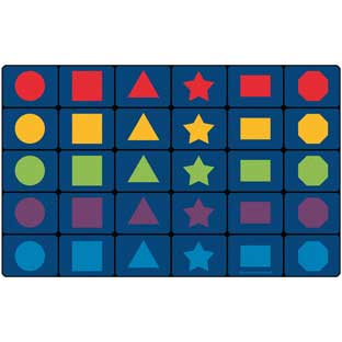 "MyPerfectClassroom Learning Shapes Seating Rug - 7'6"" x 12' Rectangle"