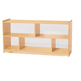 MyPerfectClassroom Toddler 2-Shelf Storage with Clear Back - 1 storage