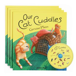 Our Cat Cuddles - 4 Paperback Books and 1 CD