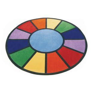 """Rainbow Rug - 6'6"""" Round"""