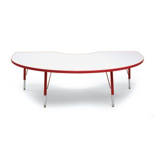"""Red 22-30""""H, 48"""" x 72"""" Kidney Scholar Craft Activity Table - 1 table"""