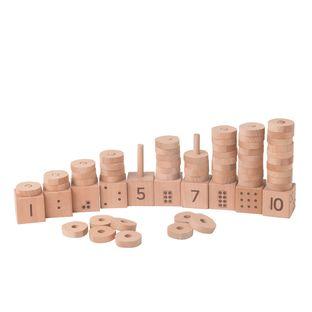 Natural 1-10 Number Stacker - 1 kit