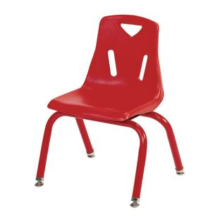 "Single 12"" Berries Stacking Chairs with Matching Legs - Red - 1 chair"