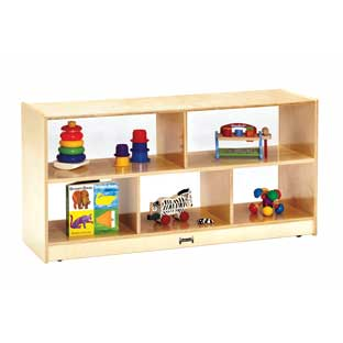 Toddler Divided Shelf Mobile Storage Plexiglas Back - 1 storage