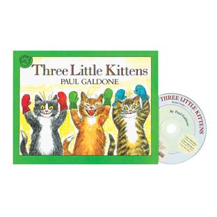The Three Little Kittens Book and CD - 1 book and CD