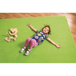 "Solid Color Carpet - Light Green 8'5"" x 11'9"" Rectangle - 1 carpet"