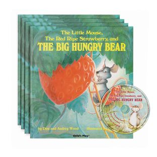 The Red Ripe Strawberry and the Big Hungry Bear  4 Paperback Books and 1 CD - 4 books, 1 cd