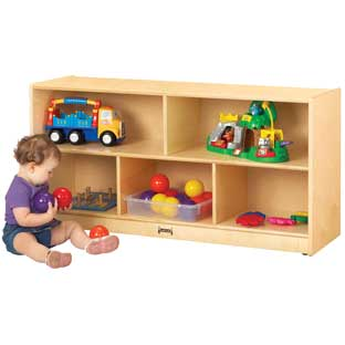 Toddler Mobile Shelving Unit - 1 shelf