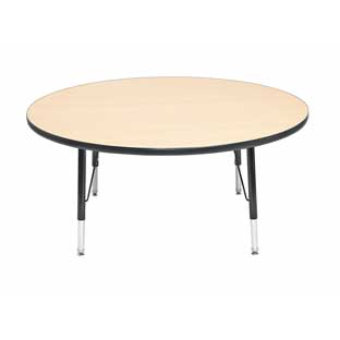 "Wood Top 22-30""H, 48"" Round Scholar Craft Activity Table"