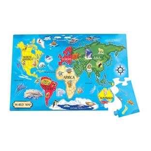 World Floor Puzzle - 1 puzzle