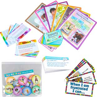 Interactive Social-Emotional Discussion Cards and Activities - 1 multi-item kit