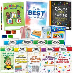 Supplemental Learning at Home Kit for Kindergarten and First Grade