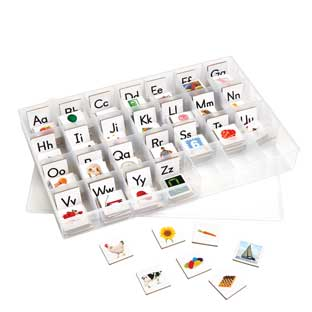 EZread Magnetic Photo Tiles: Beginning Sounds With Storage Case