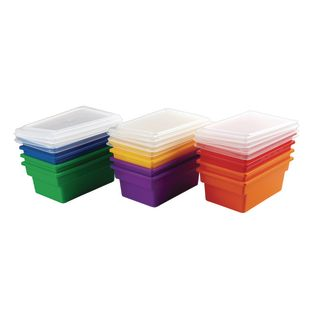 Small All-Purpose Bins And Lids - Set of 12 - 6 Colors