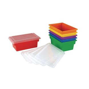 Small All-Purpose Bins And Lids - Set of 6 - 6 Colors