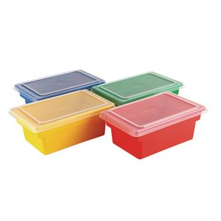 Small All-Purpose Bins And Lids - Set of 4 - 4 Colors