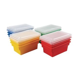 Small All-Purpose Bins And Lids - Set of 12 - 4 Colors
