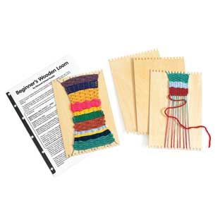Colorations® Beginner's Wooden Loom- Set of 12