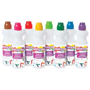 Colorations Tropical Chubbie Markers - Set of 8