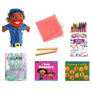 Excellerations Deluxe Preschool At-Home Activity Set with Puppet