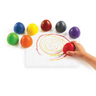 Colorations Chubby Crayon Eggs - Set of 8