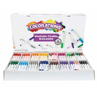 Colorations Washable Chubby Marker Smart Pack - Set of 300