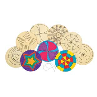 Colorations Decorate Your Own Spinner, Set of 24, 6 Designs