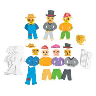Colorations Standing Scarecrow Kit for12