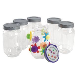 Colorations All-Plastic Mason Jar Set of 6