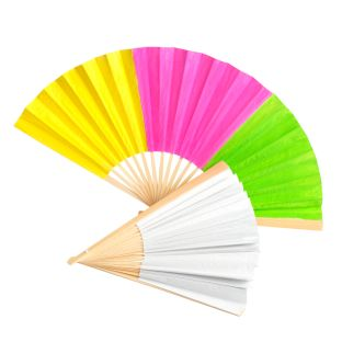 Colorations Fantastic Blank Paper Fans - Set of 12