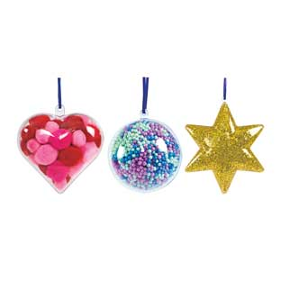 Colorations Clear Ornaments - Sets of 36